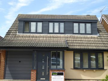 Castle Windows customer home fitted with new windows and doors