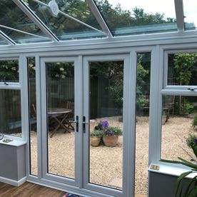 new conservatory supplied and fitted by Castle Windows