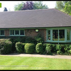 chartwell green replacement windows on to a bungalow