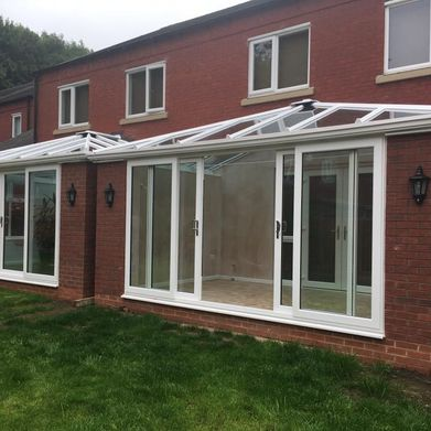 new fitted conservatory to a customers home fitted by castle windows
