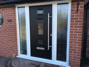 Composite door by castle windows